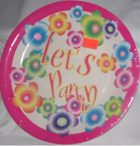 Lets Party Party Plate