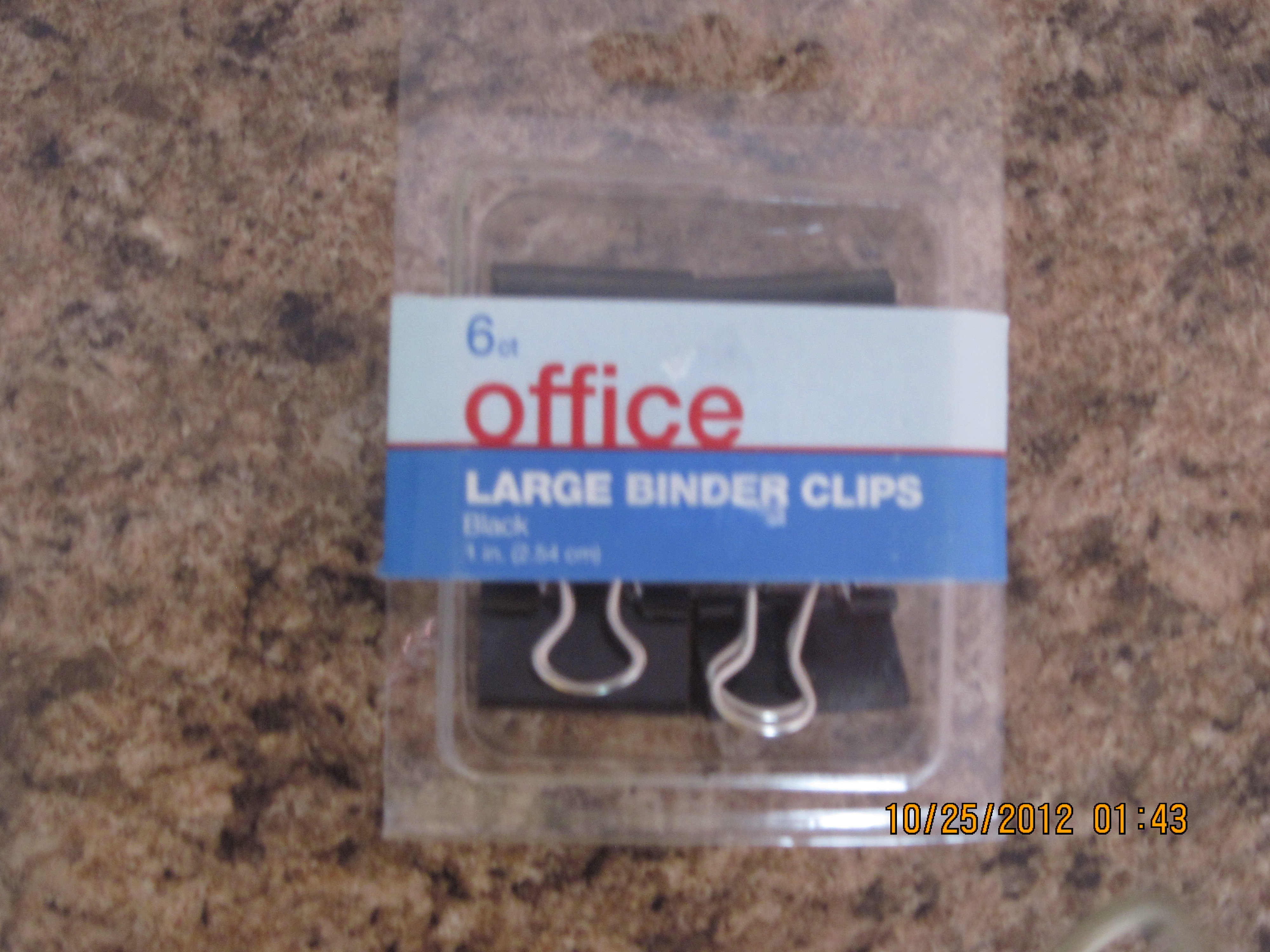 6 ct Office Large Binder Clips