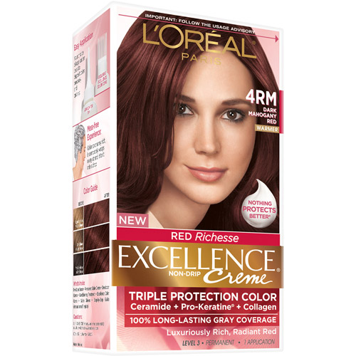 L'Oreal Paris Excellence Richesse Creme Hair Color, 4RM Dark Mah