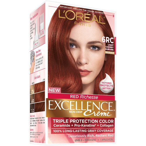 L'Oreal Paris Excellence Richesse Creme Hair Color, 6RC Light Ch