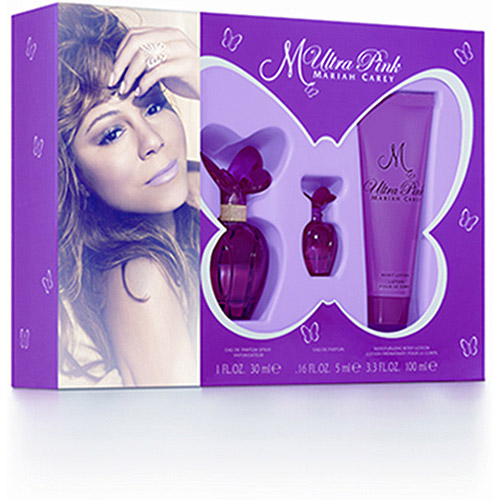 Mariah Carey Ultra Pink Fragrance Gift Set for Women, 3 pc