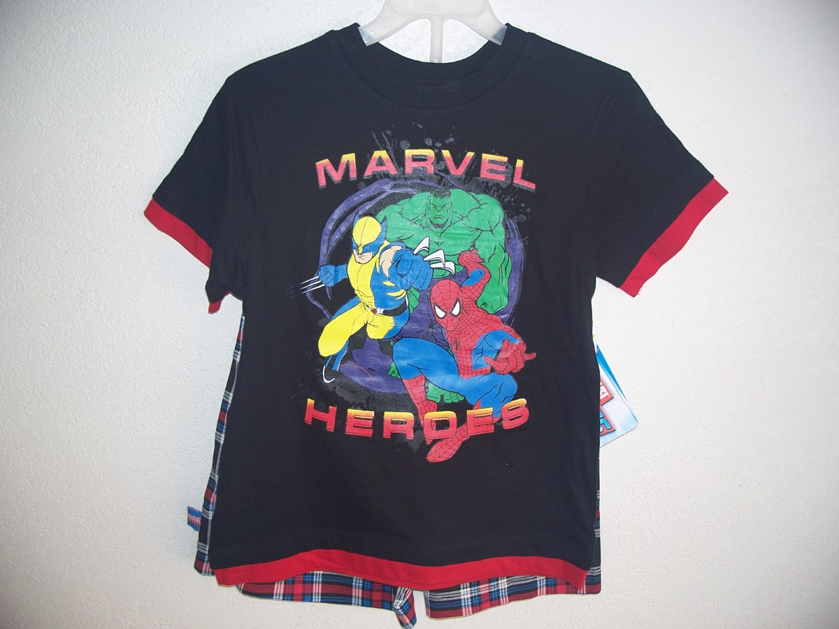 Marvel Heroes SZ 4 Short Set