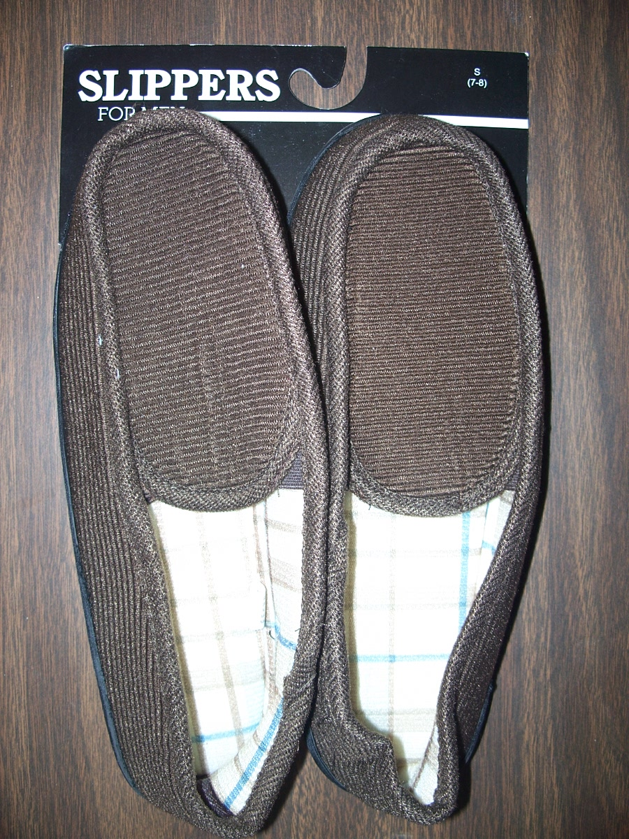 Sz Small 7-8 Brown Slippers