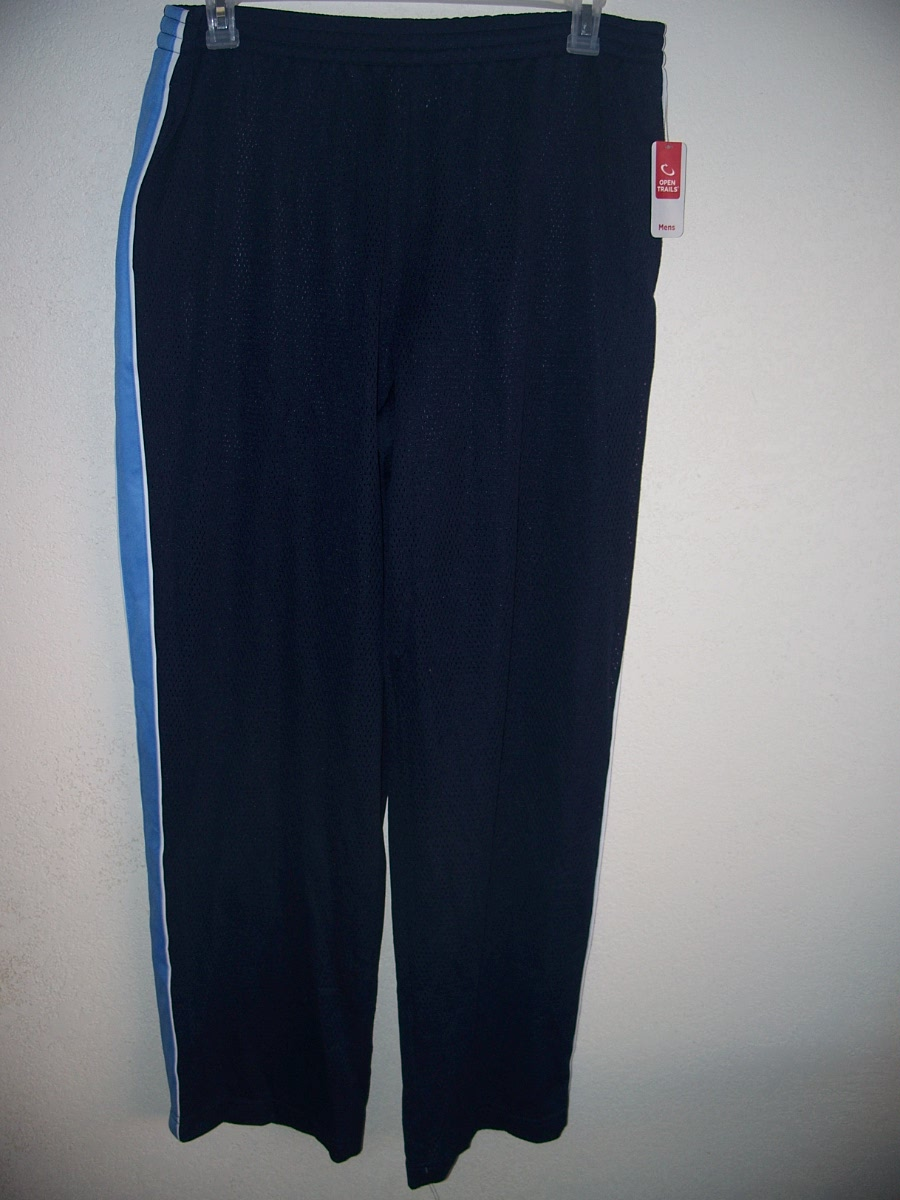 Open Trail Mesh Pant Dark Blue w/ Blue,White Sz Lg