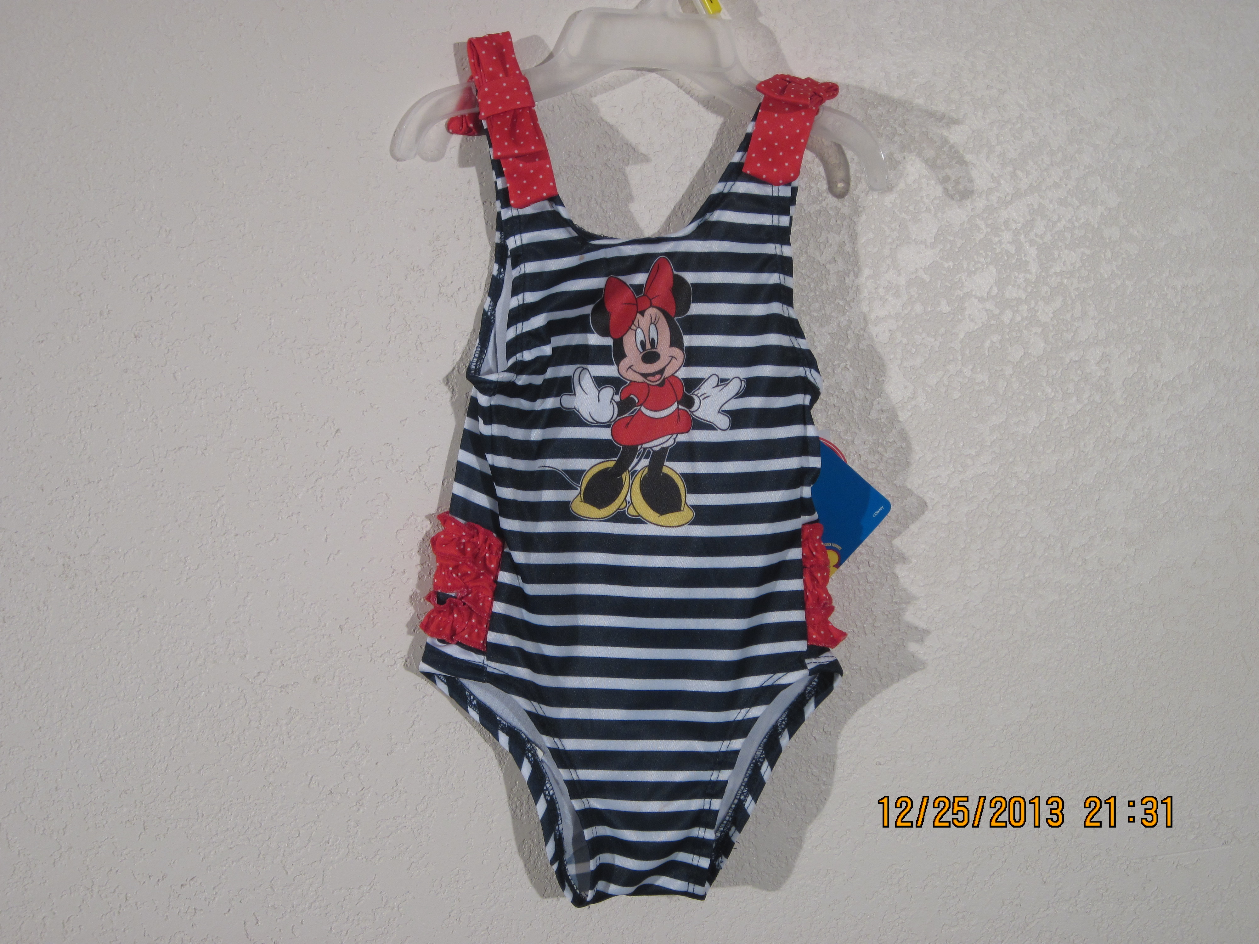 Disney Minnie Mouse Sz 2T Blue & White with Minnie on front