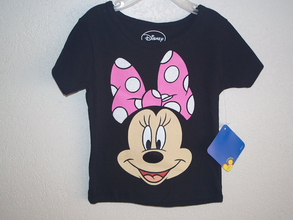 Disney Minnie Mouse Sz 18M Black T-Shirt