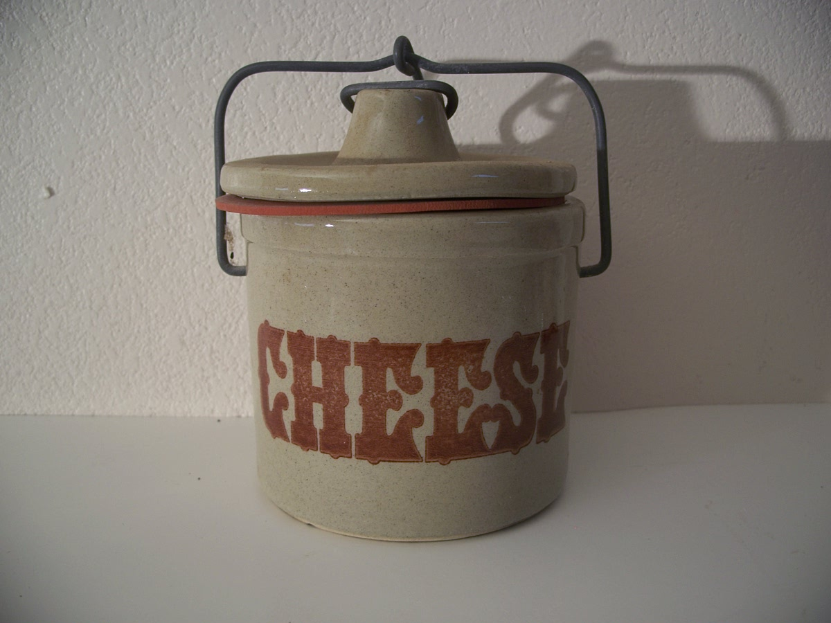 Ceramic Container with Locking Lid Wisconsin Cheese Makers Guild