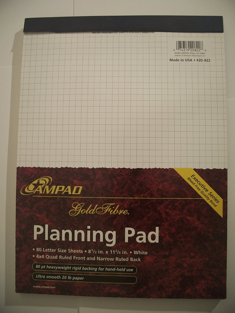 Ampad Gold Fiber Planning Pad 80 ct 20-822