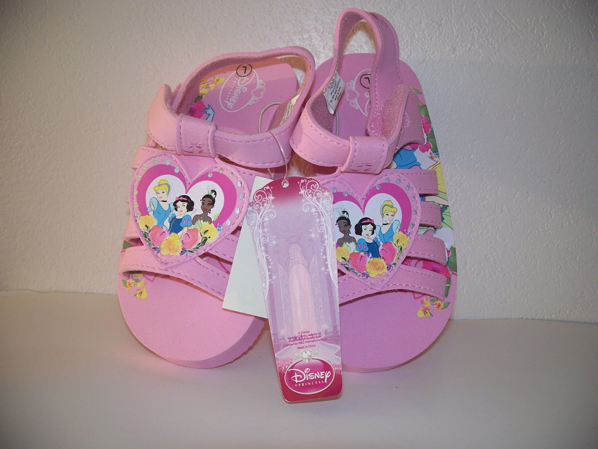 Disney Princess Sandals Assorted Sizes sm, med, Lrg, Pink
