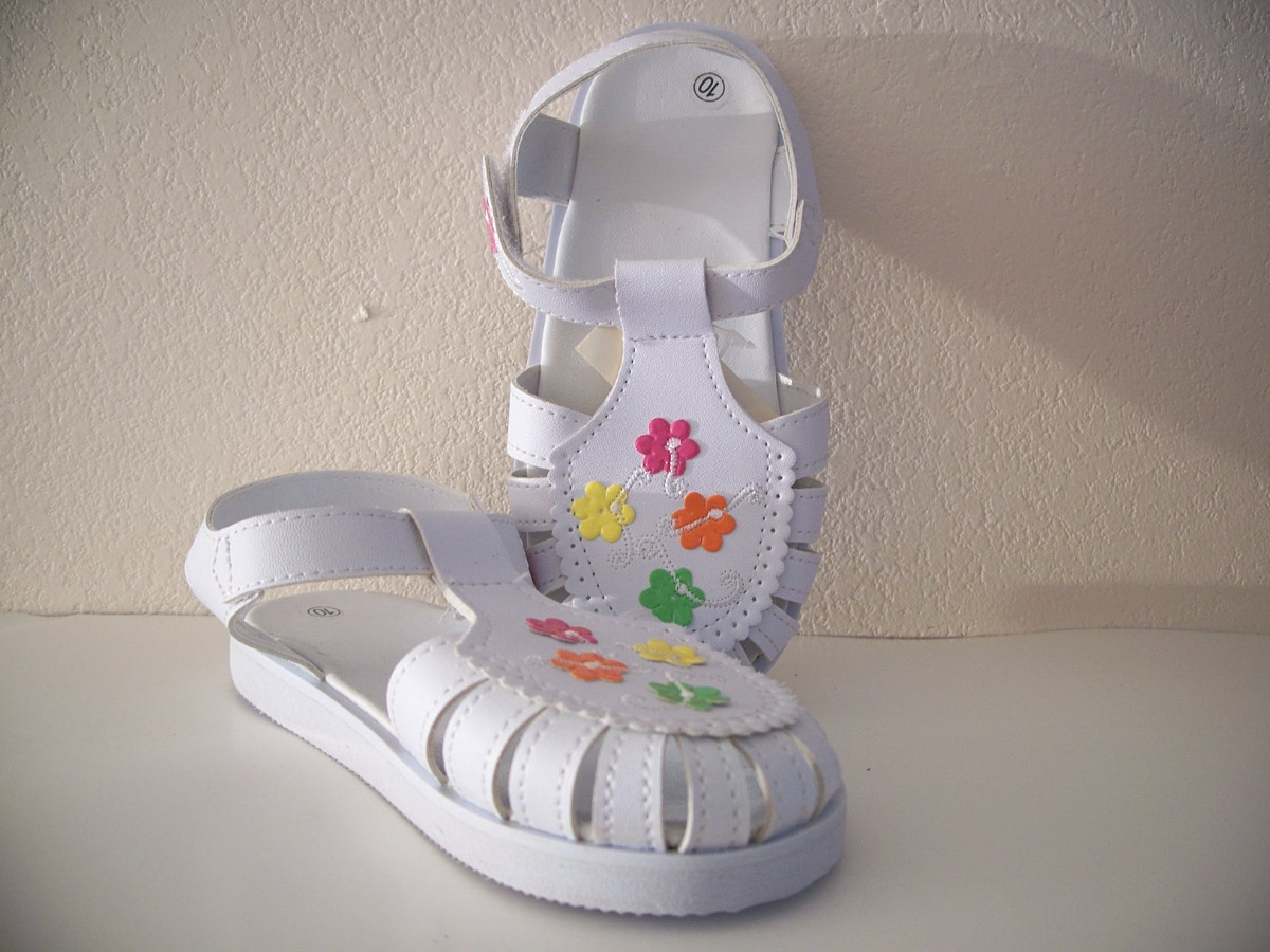 Toddler Floral Sandals White