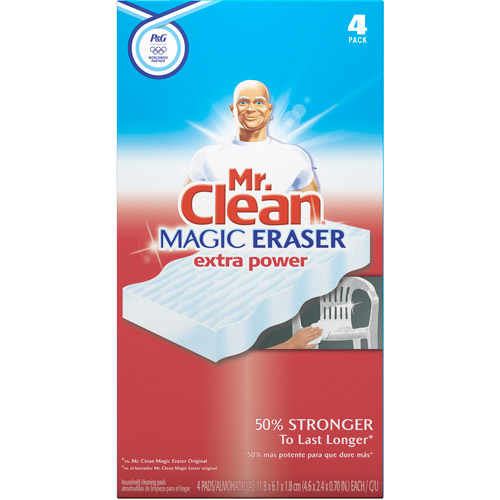 Mr. Clean Magic Eraser Cleaning Pads Extra Power, 4-Pack