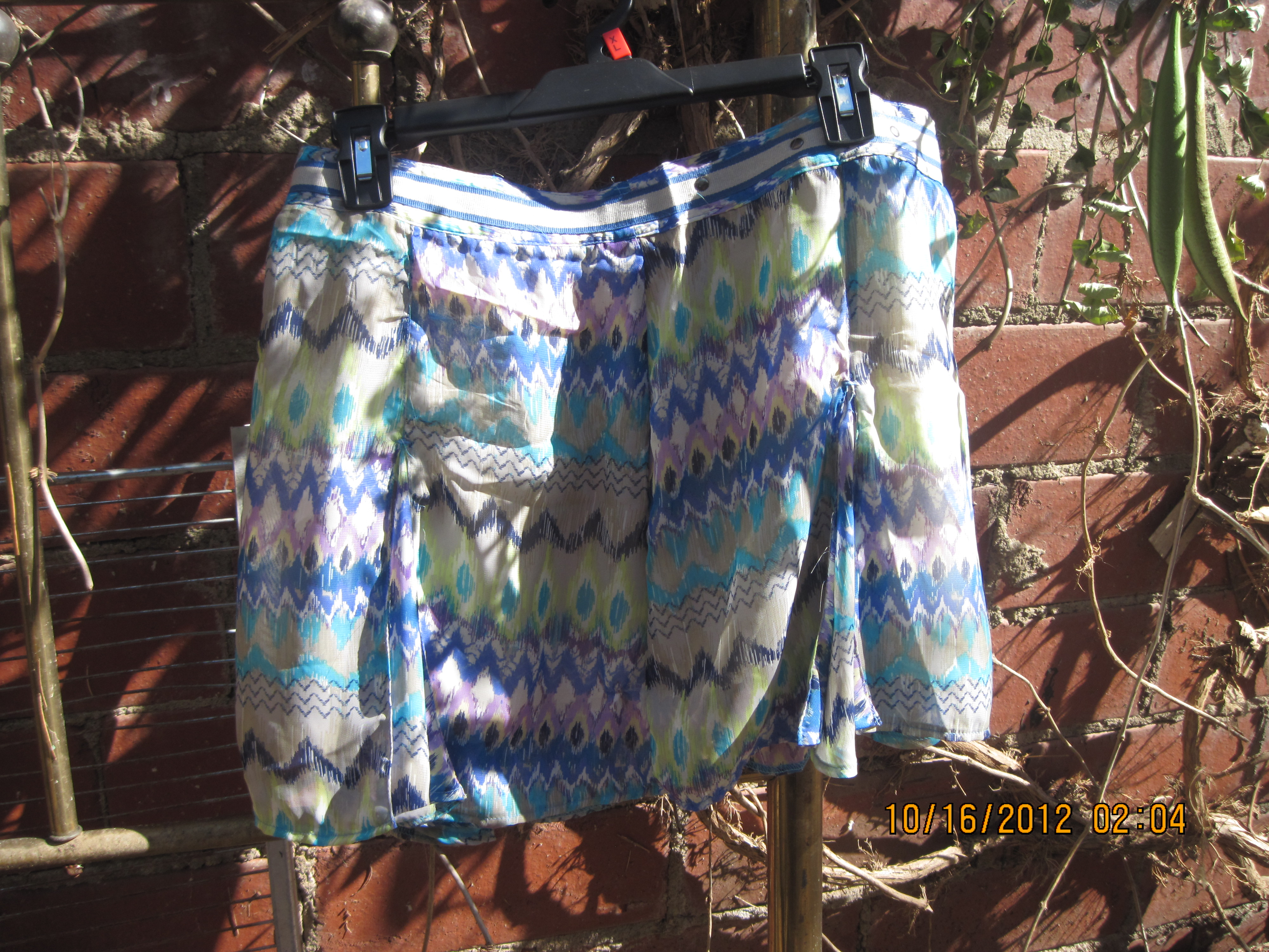 Dream out Loud Sz 13 Multi-Colored Print Skirt