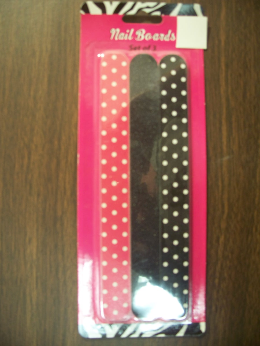 Nail Board Set of 3 (Red,Black White with polka dot )