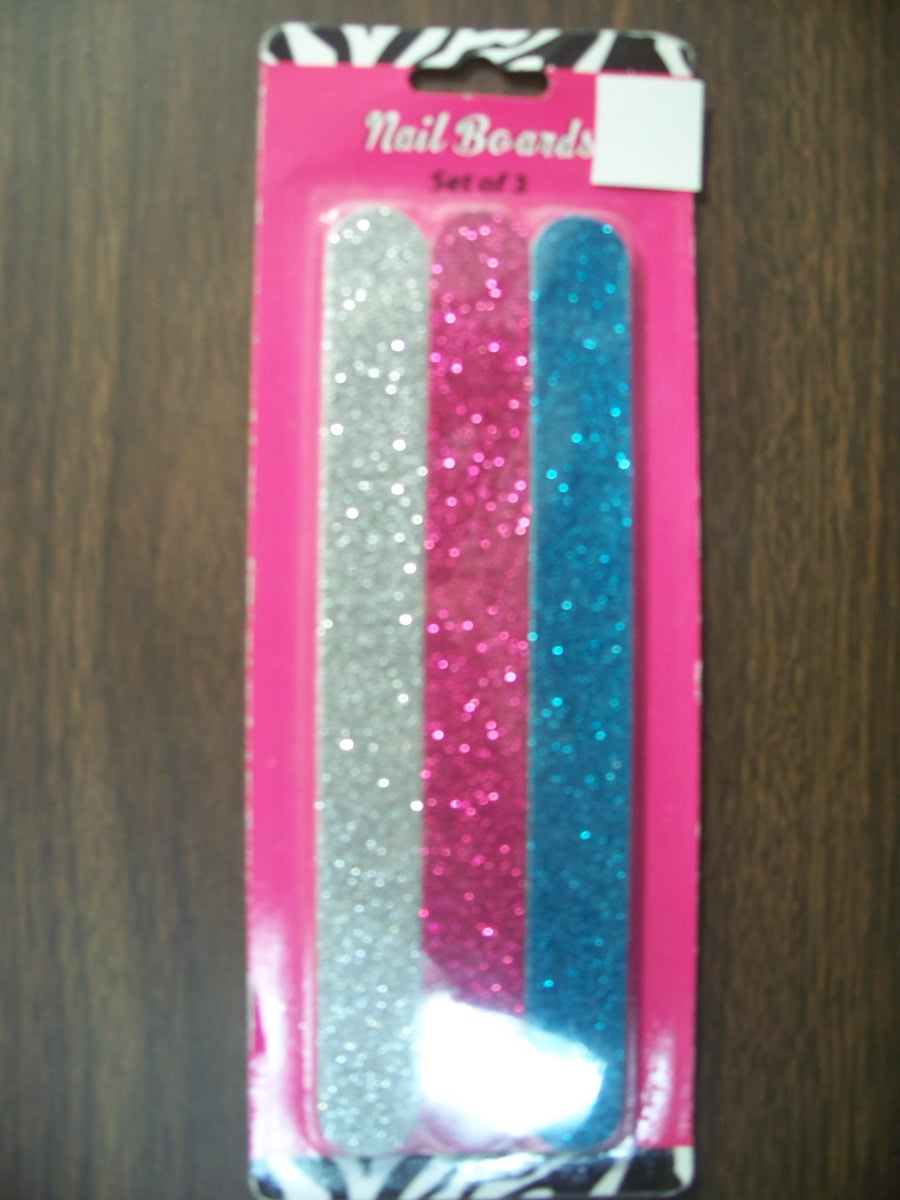 Nail Boards set of 3 (Silver Purple,Blue with Sparkles)