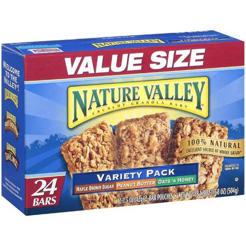 Nature Valley Variety Pack Crunchy Granola Bars, 24 ct