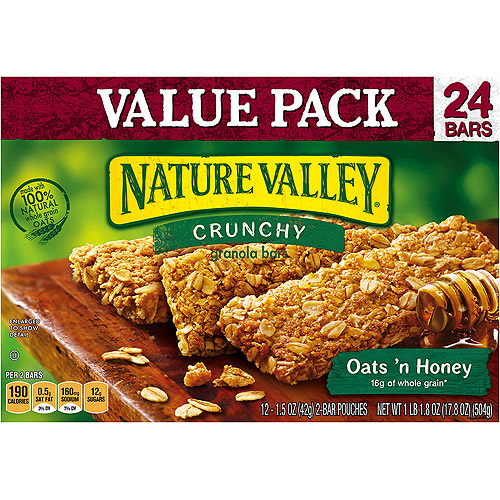 Nature Valley Crunchy Oats 'n Honey Granola Bars, 1.5 oz, 12 cou