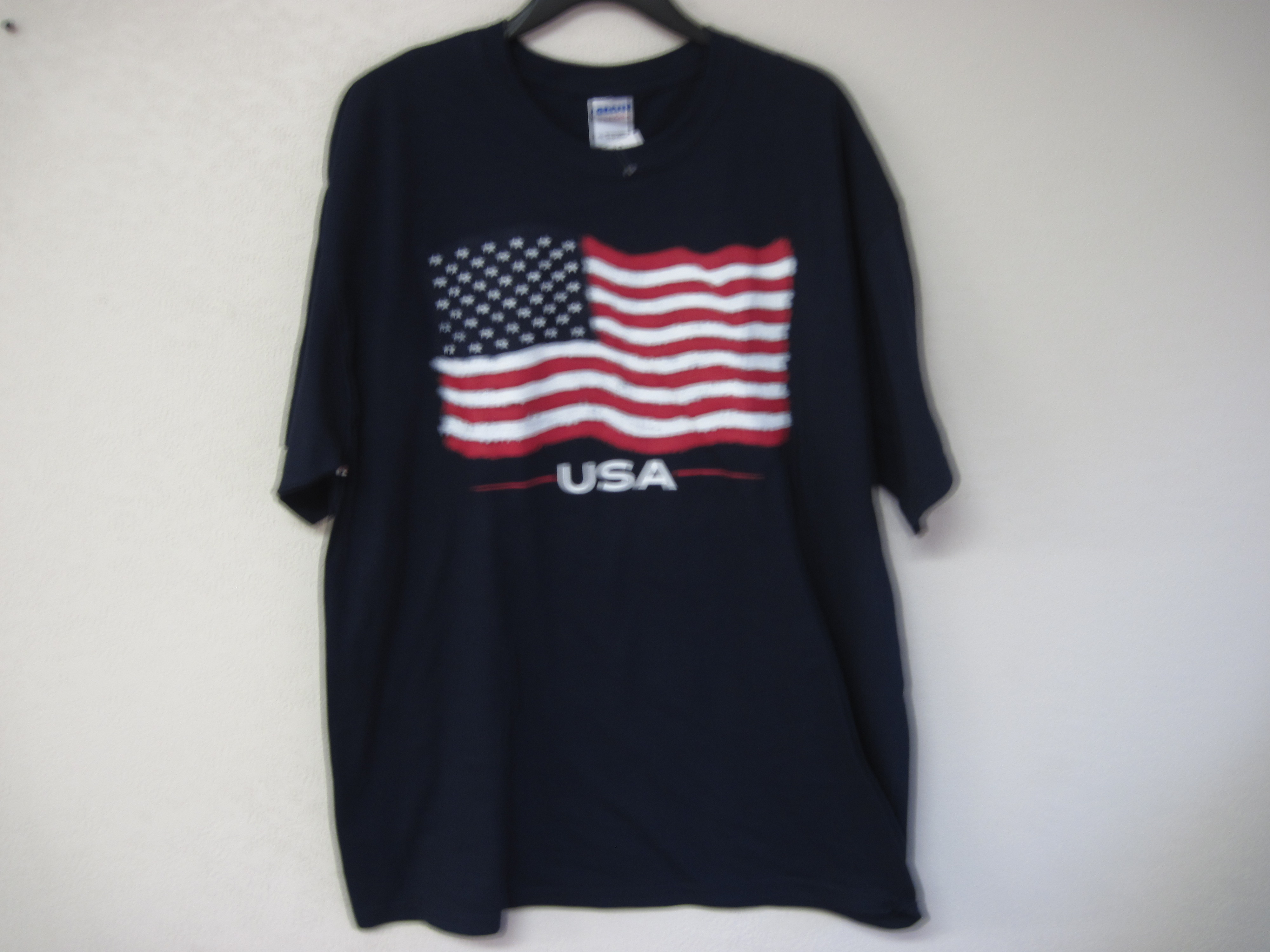 American Flag Sz XL Short Sleeve T-Shirt navy blue