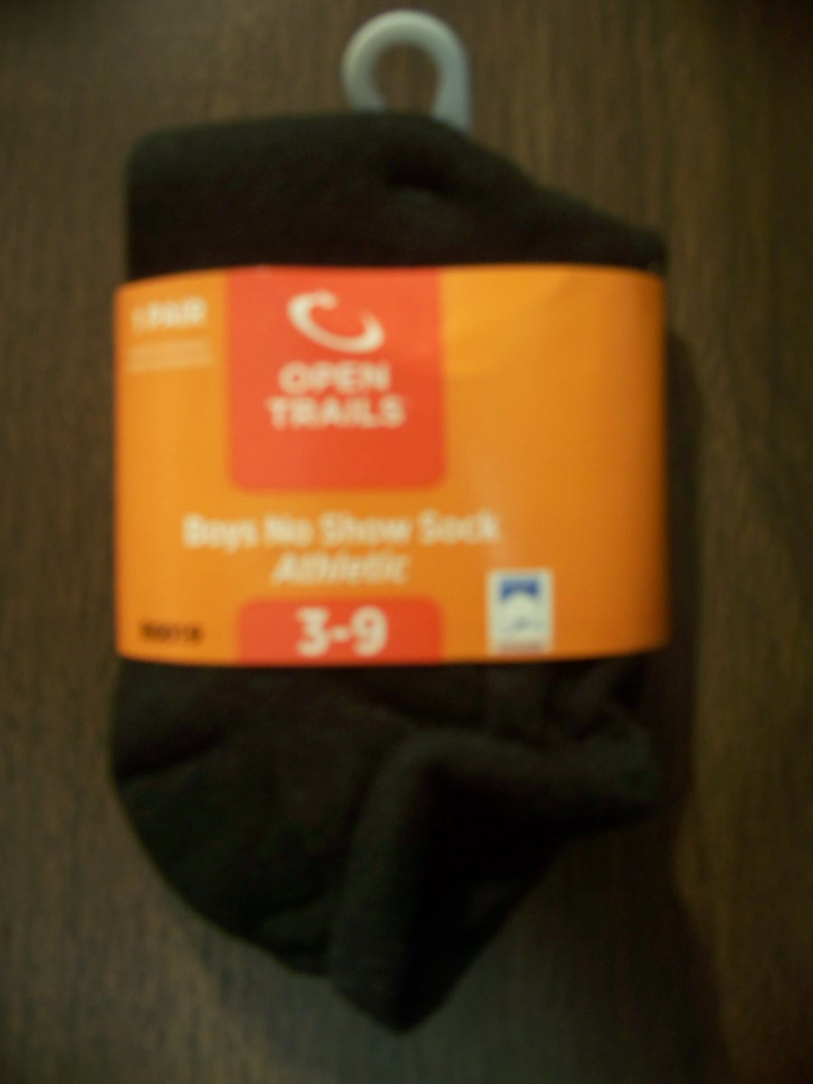 Open Trails Boys No Show Athletic Sock 3-9