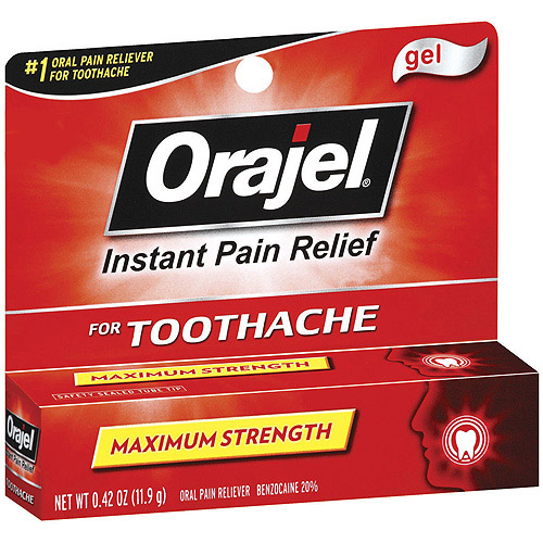 Orajel Immediate Toothache Pain Reliever, Maximum Strength Gel,