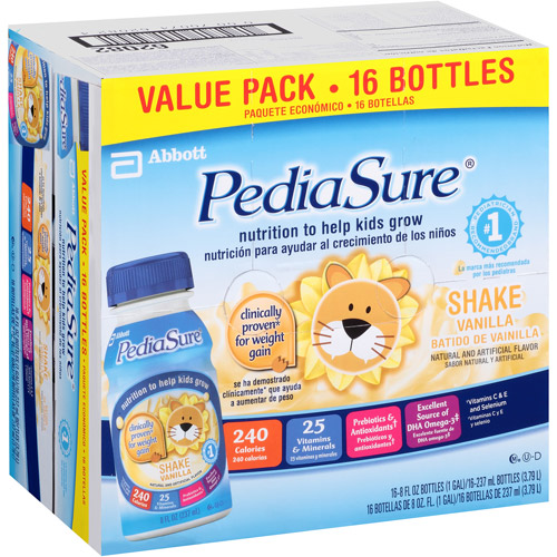PediaSure Vanilla, 8 fl oz. bottle, 16-count