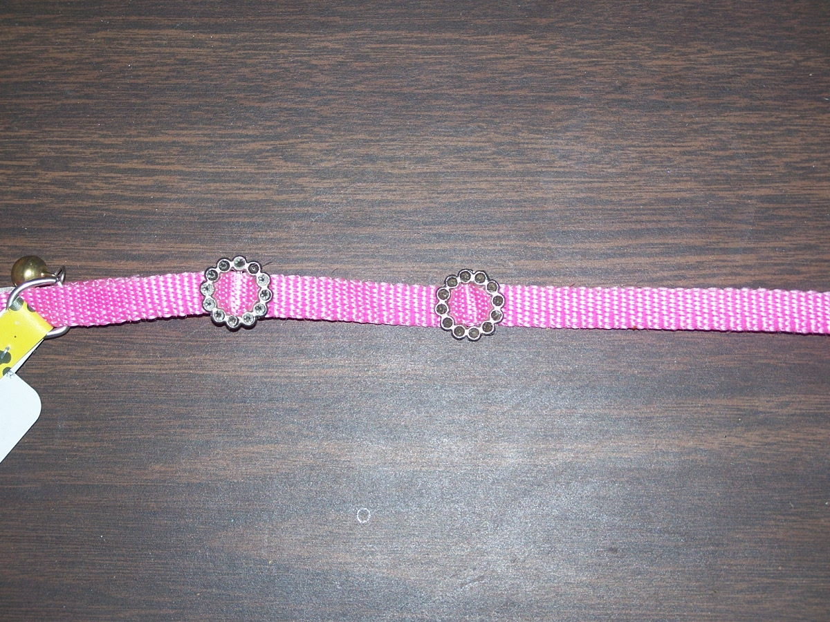 Tiny's Cat Collar with Bell (Pink)