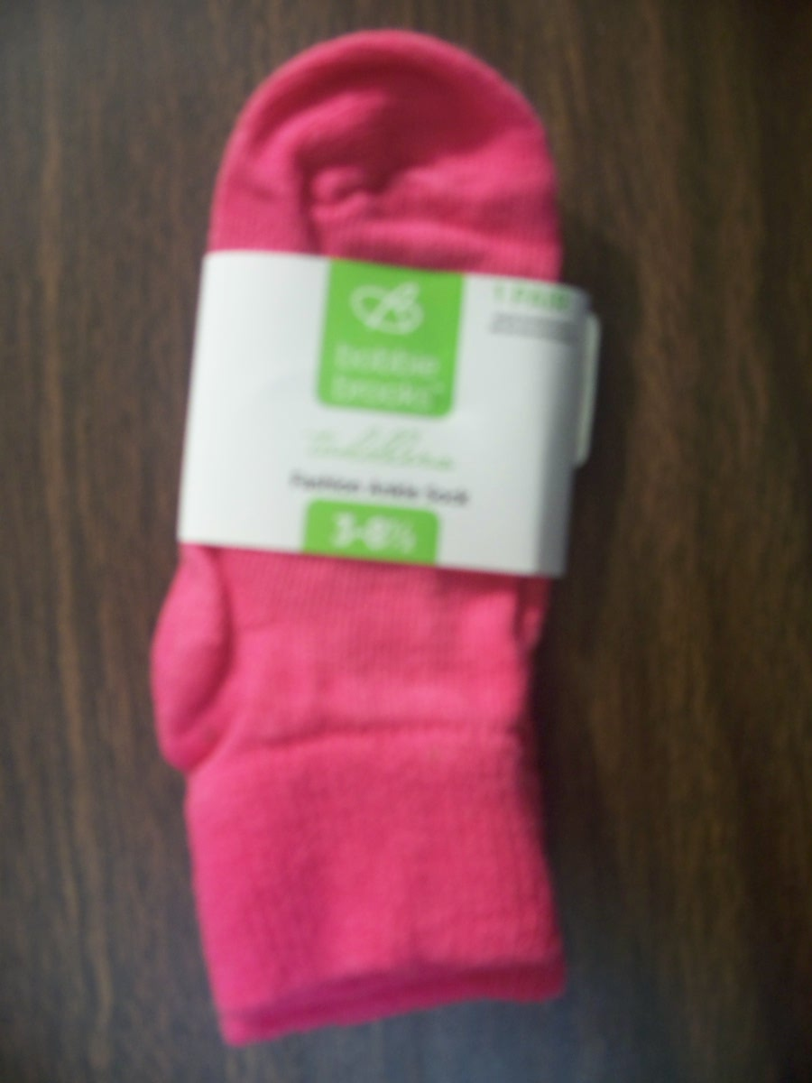 Bobbie brooks Pink Toddlers Girl Fashion Ankle Sock 5-6 1/2