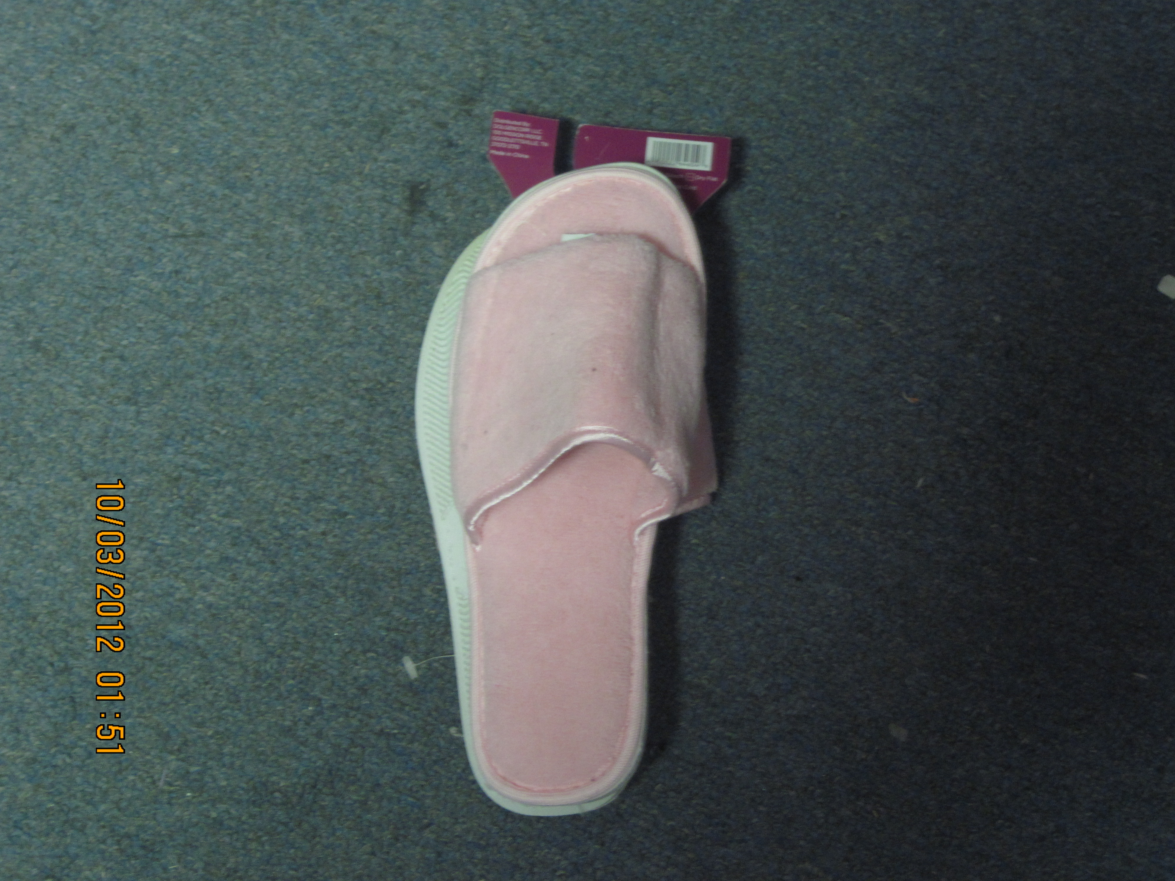 SZ 5/6 Comfort Slippers ( Toes Show) Pink