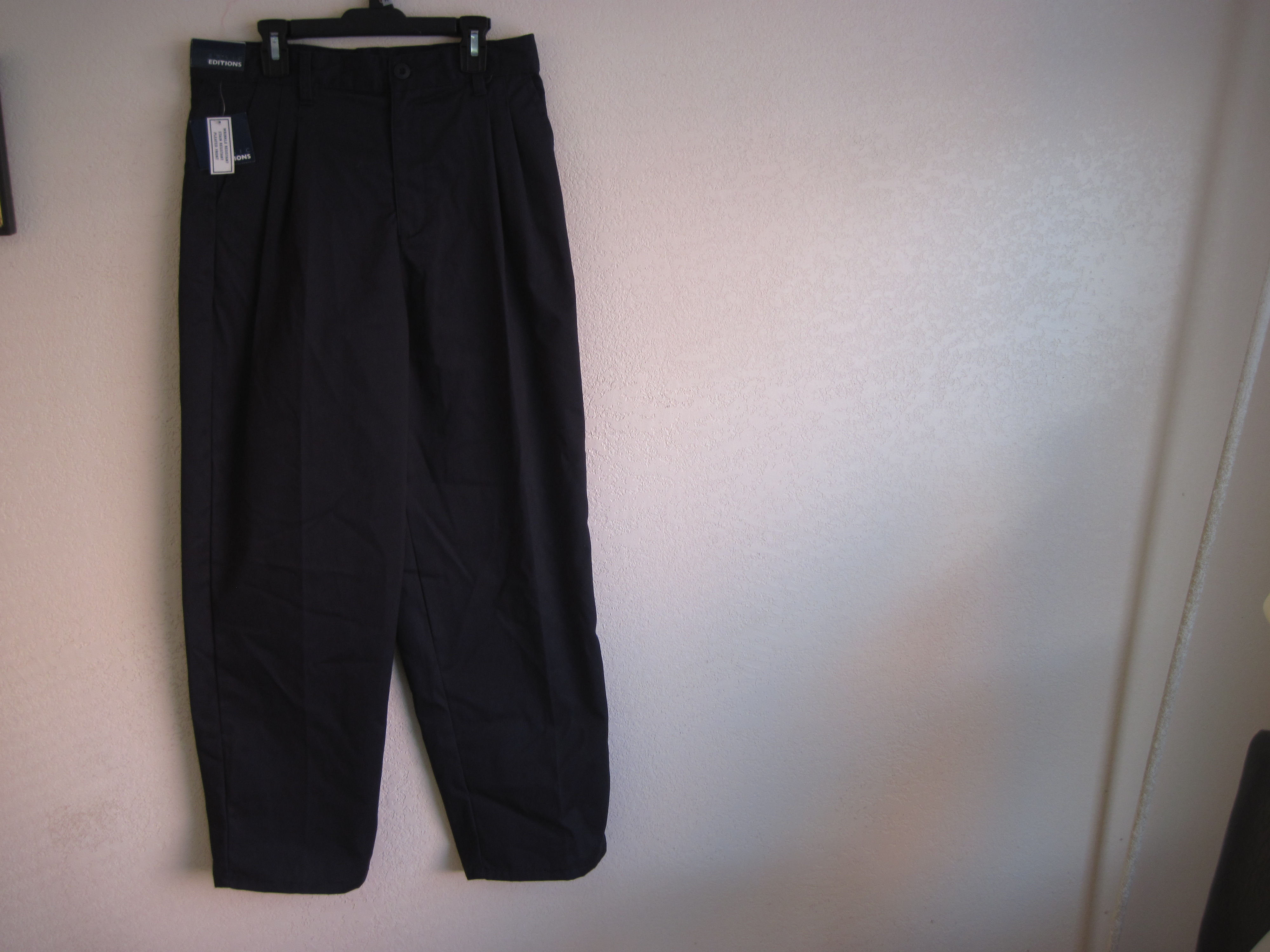 Basic Editions Sz 14H Boys pleaded Navy Blue Pants