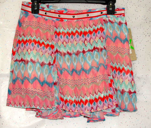 Dream Out Loud Sz 9 Juniors Pleaded Multi-Color (red Skirt