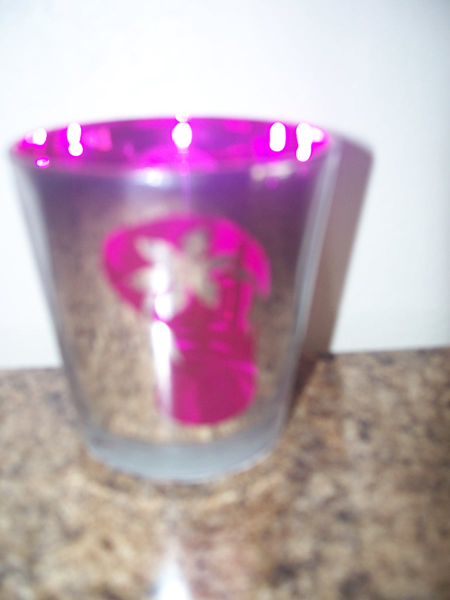 Hot Pink and Silver Tealight Holder