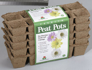 Plantation Products Peat Pot Seed Starter Pots