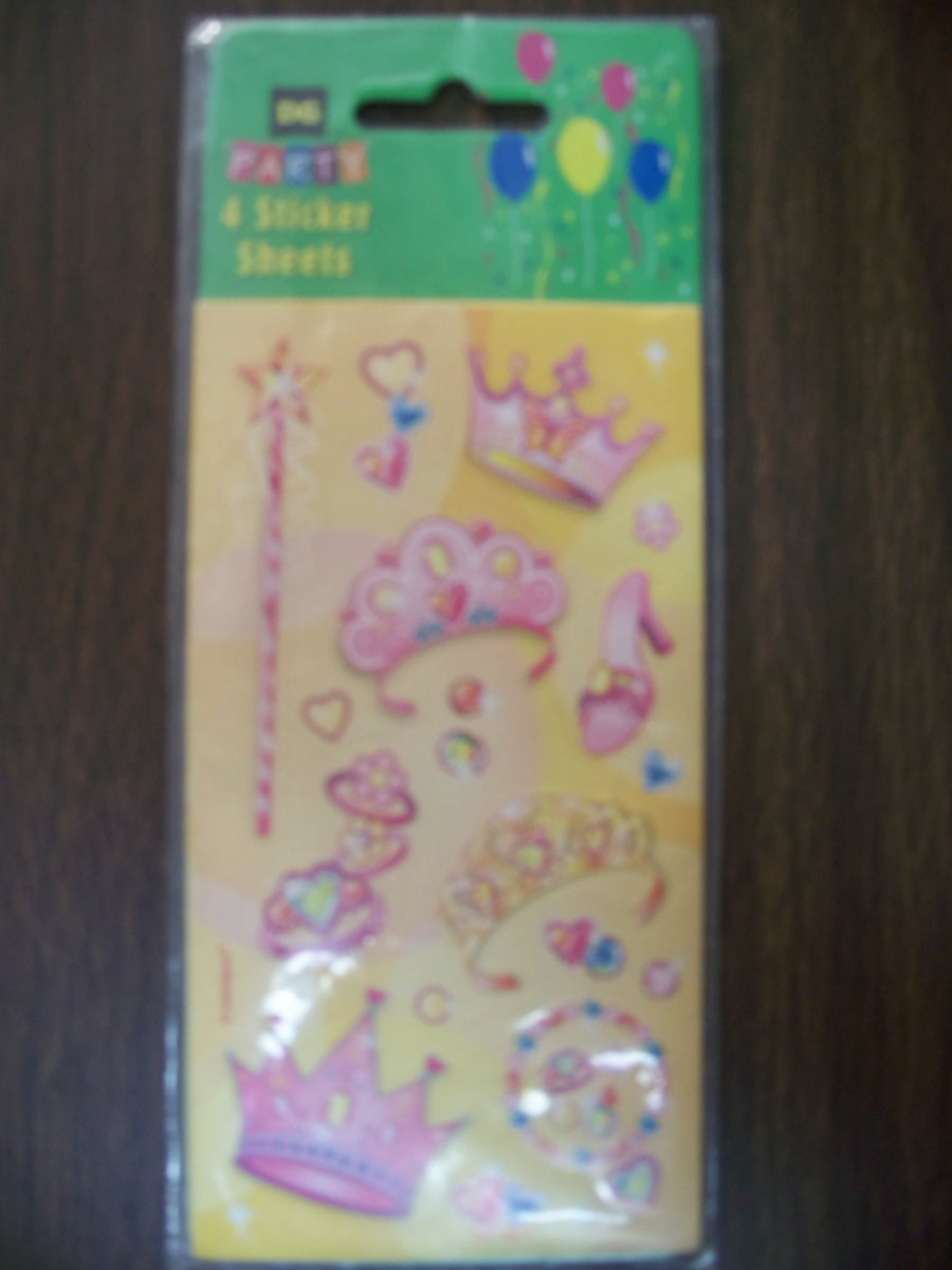 Party Princess Sticker Sheets