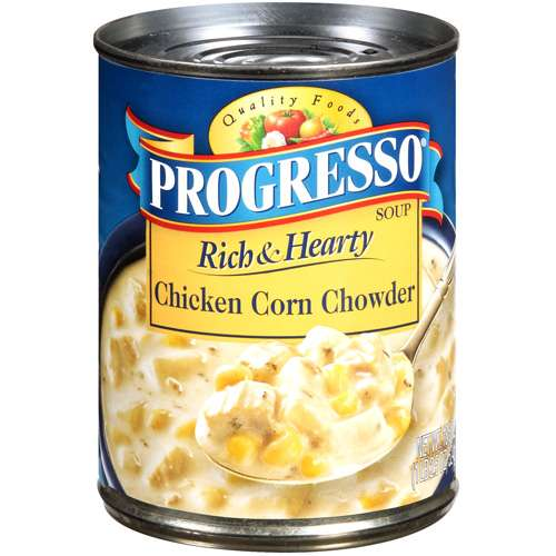 Progresso: Chicken Corn Chowder Soup Rich & Hearty, 18.5 Oz