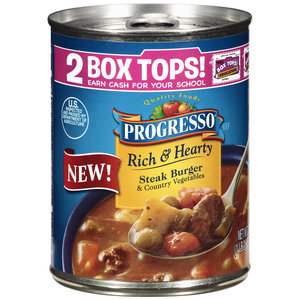 Progresso Rich & Hearty Steak Burger & Country Vegetables Soup
