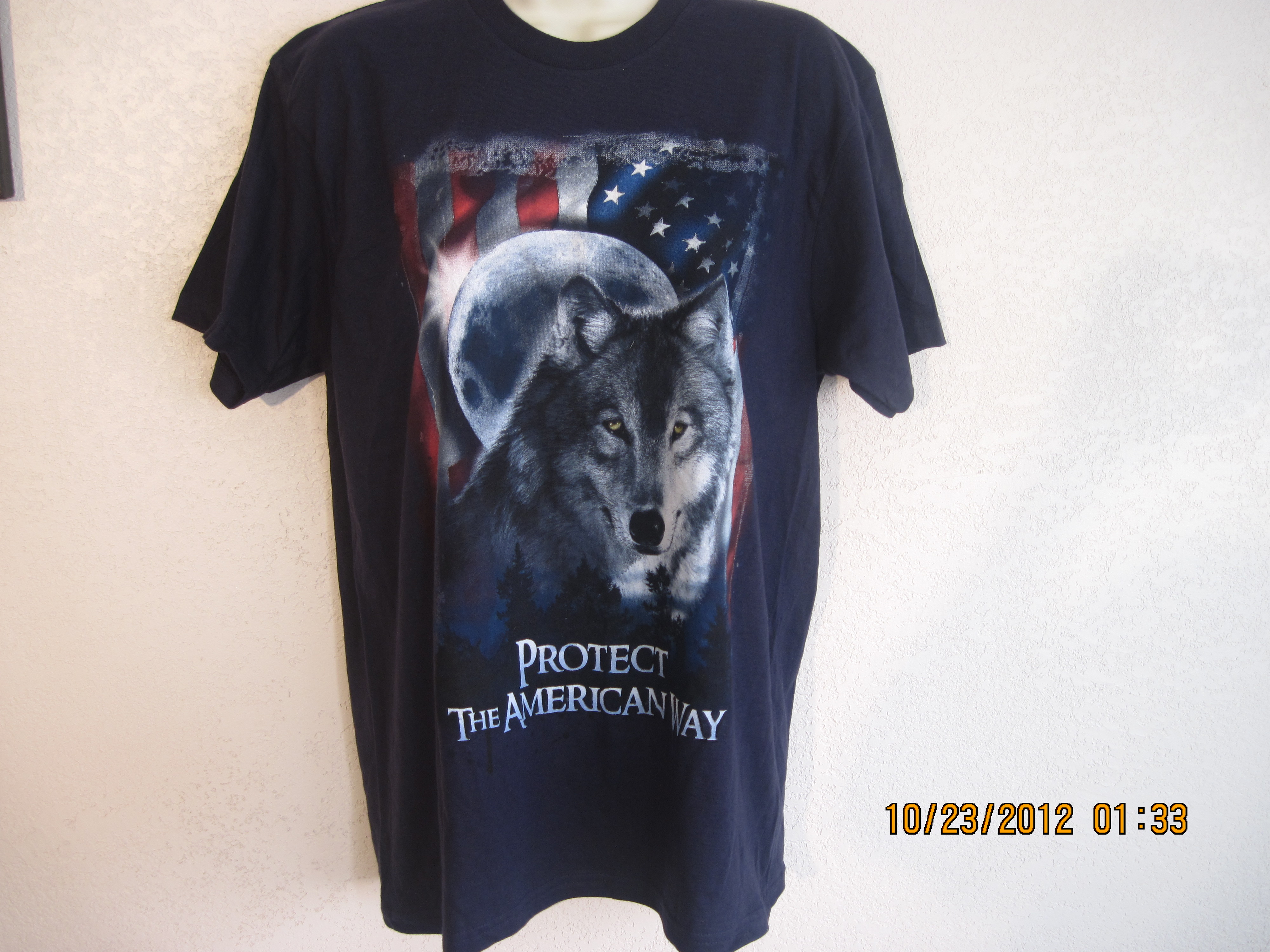 Whale By Switcher Sz M Protect The American Way T-Shirt(navy blu