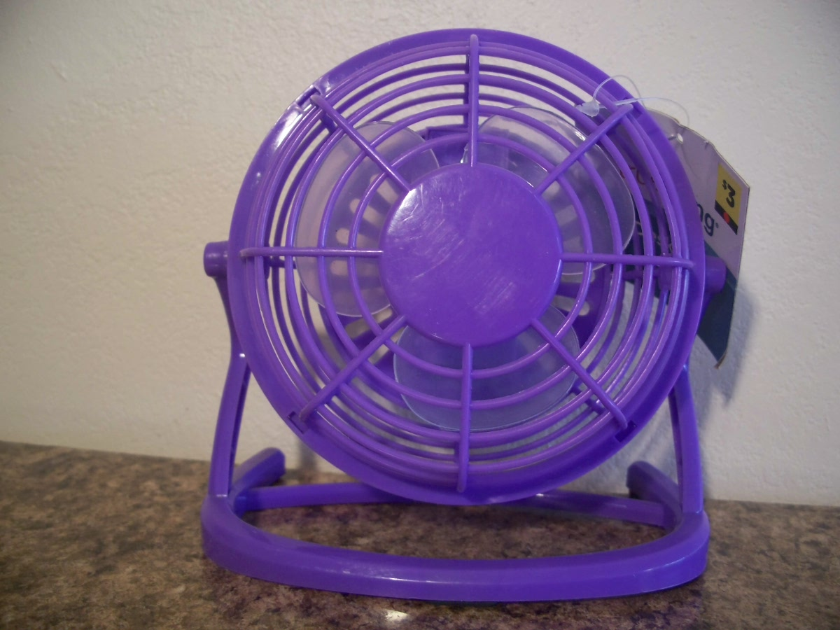 Desk Fan (Purple)