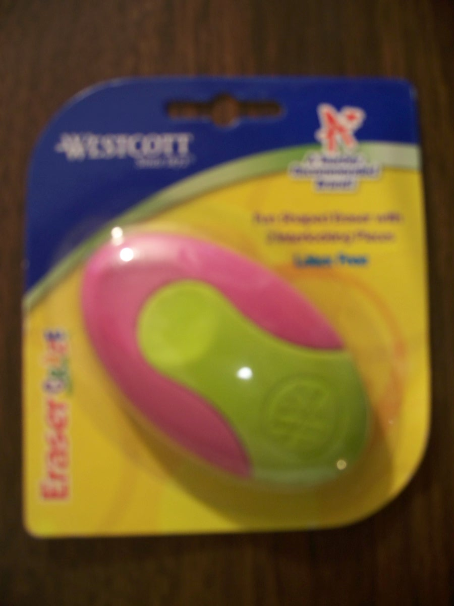 Westcott Eraser Craze(purple/lime green)