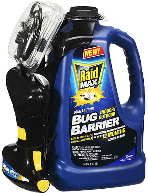 Raid Max Bug Barrier Pesticide, 64 oz