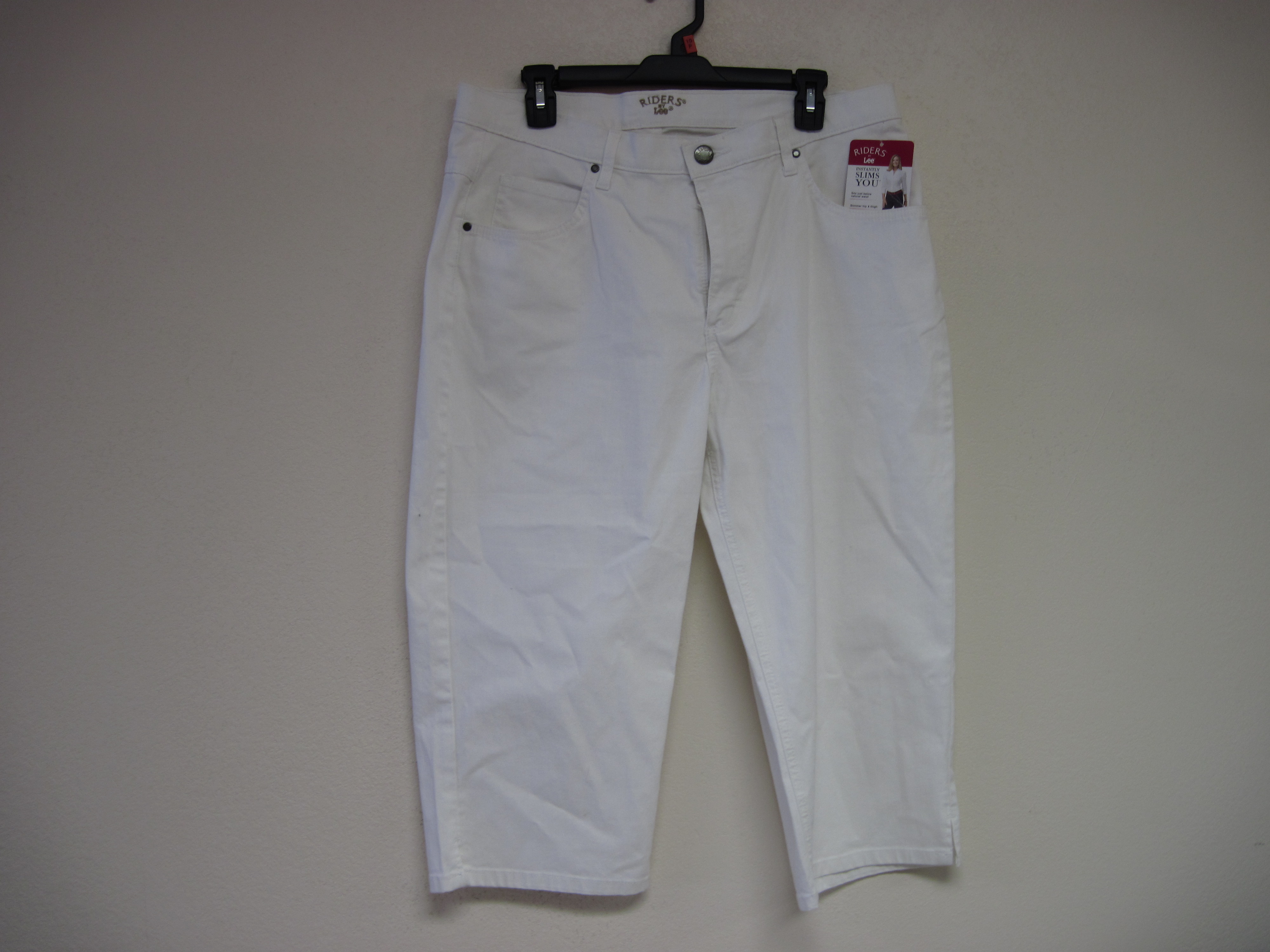 Riders by Lee Sz 8 M Classic Fit Capri (White)