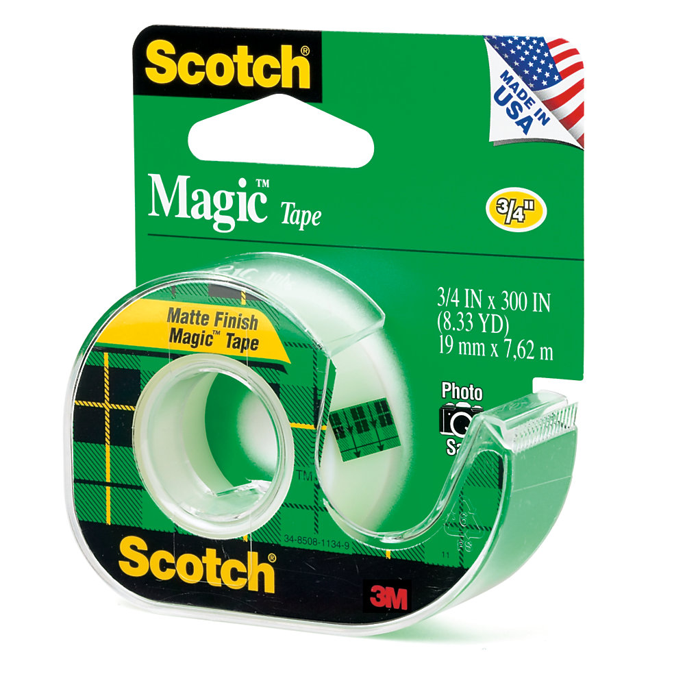 "Scotch® Magic™ Tape In Dispenser, 3/4"" x 300"""