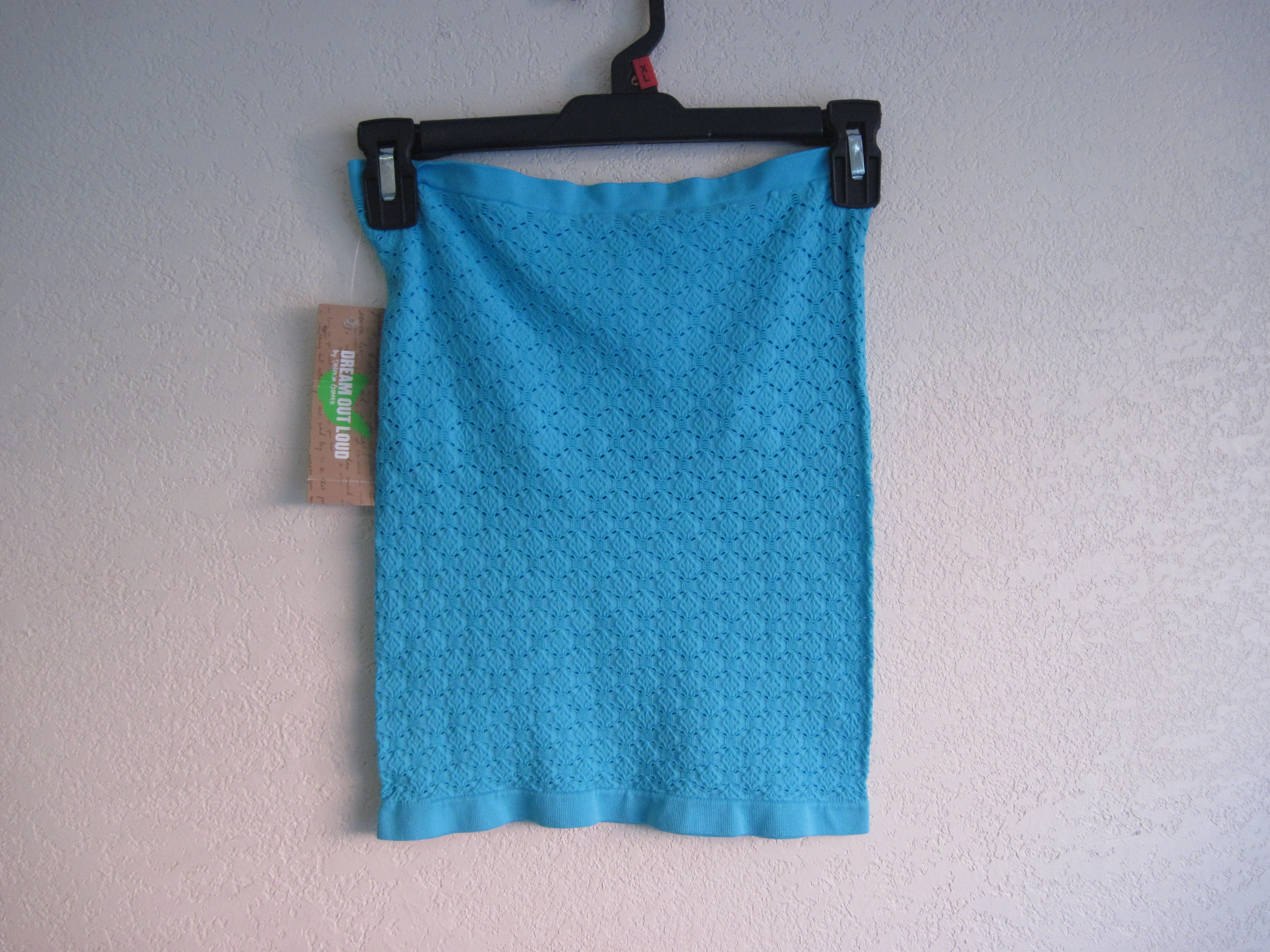 Dream Out Loud Sz M Seamless Eyelet Tube Top blue