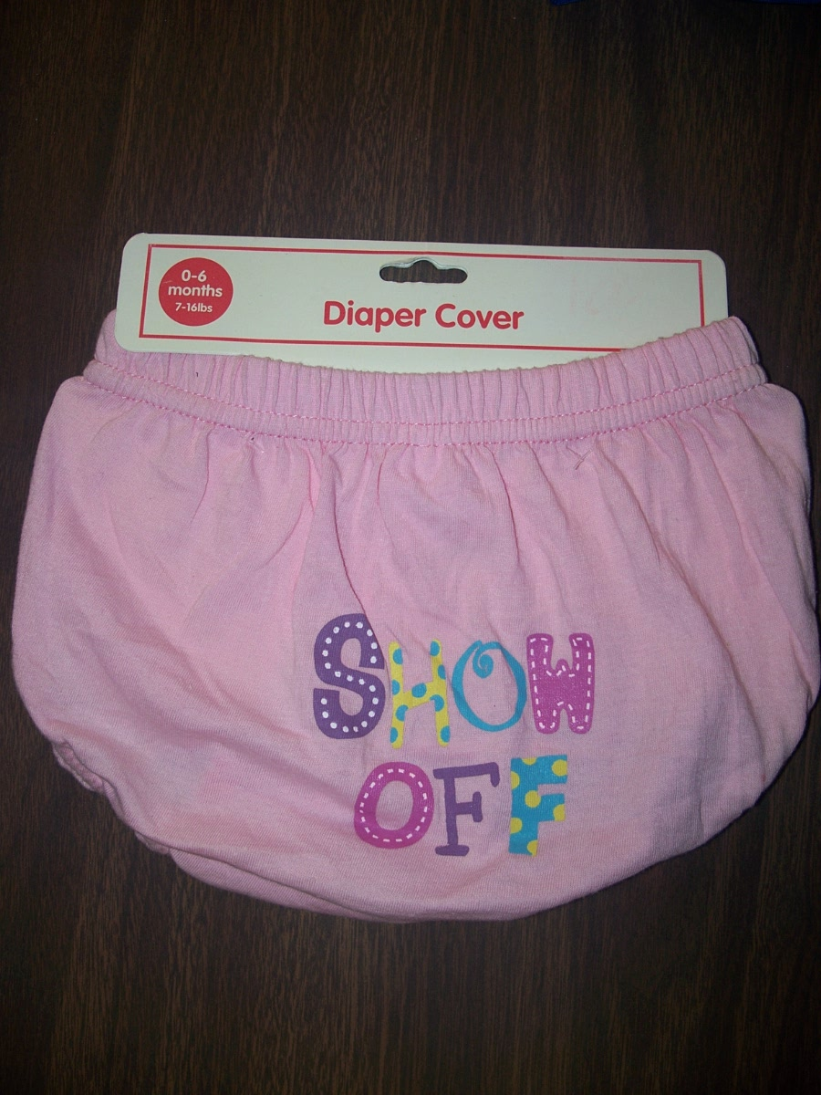 Show Off Diaper Cover Pink 0-6 months