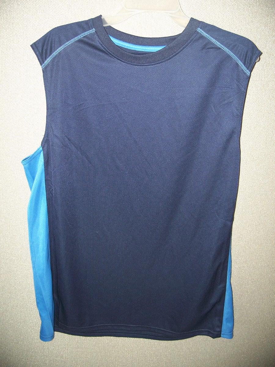Open Trails Sz XL Blue with Blue Down the Sides Sleeveless
