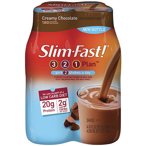 Slim-Fast 3-2-1 Low Carb Diet Creamy Chocolate 4 pk, 10 fl oz