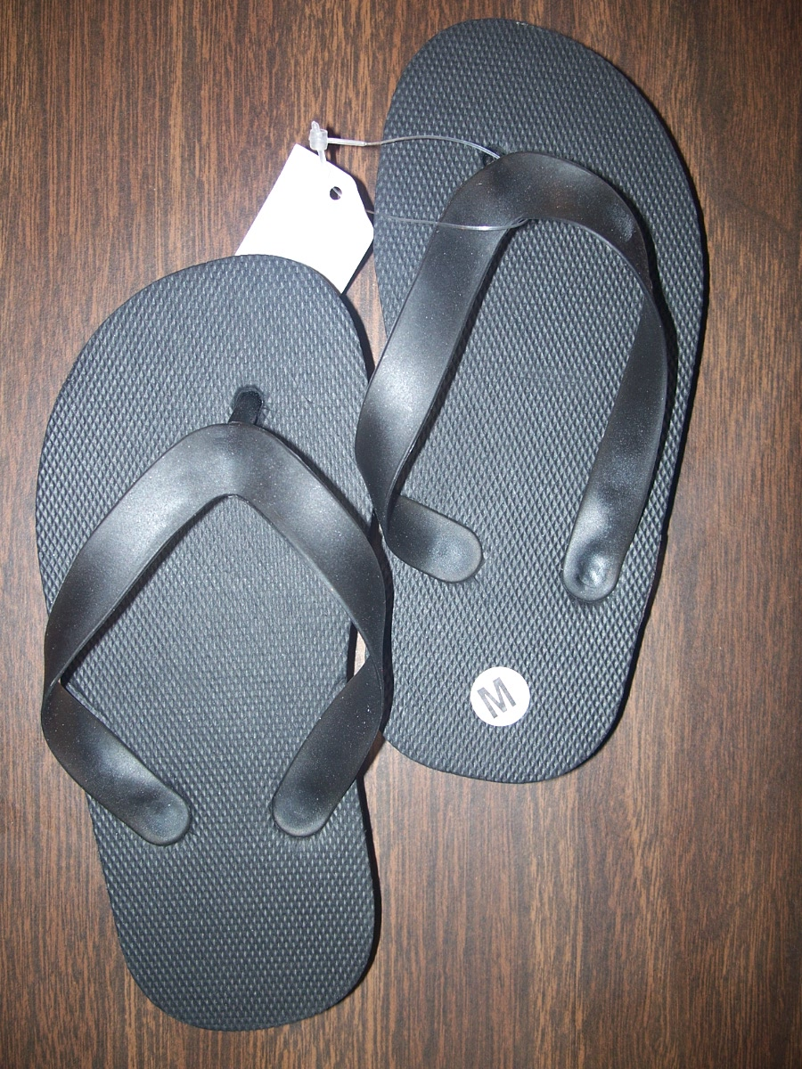 Flip Flops Sz Small Plain (black)