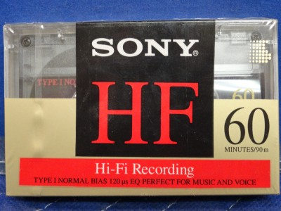 Sony HF Hi-Fi Recording Type 1 Normal Bias 60 Minute Audio Casse