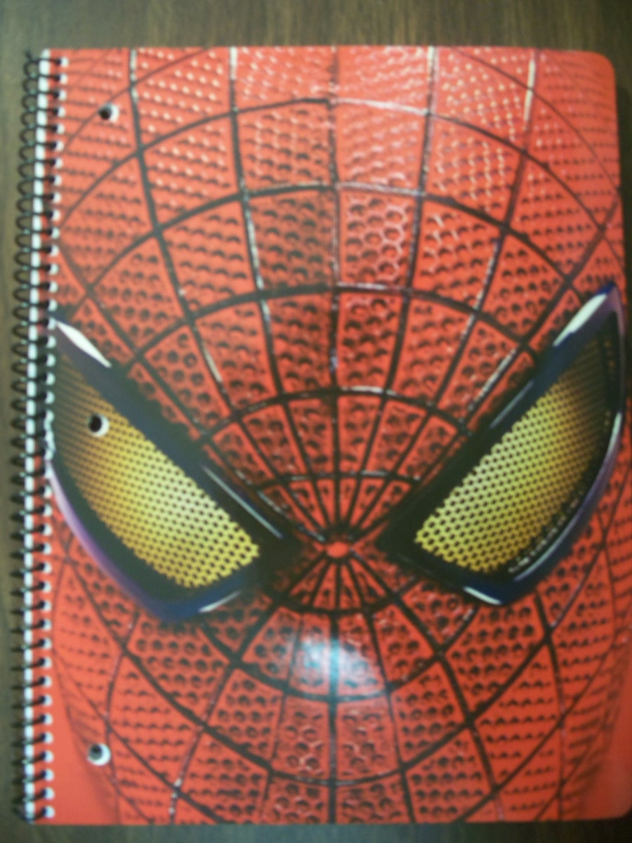 Spider-man Face notebook Wide Ruled (70 sheet)