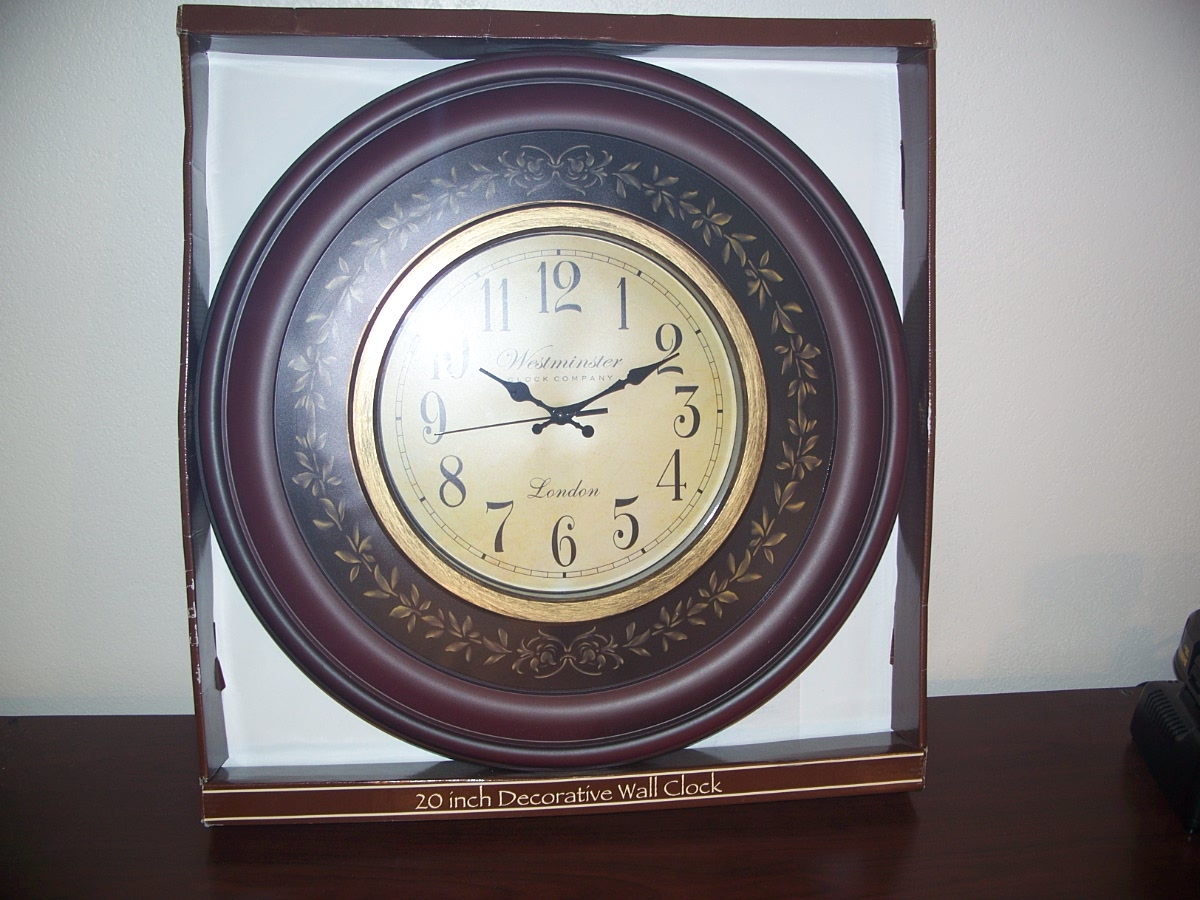 20'' decorative Westminster wall clock