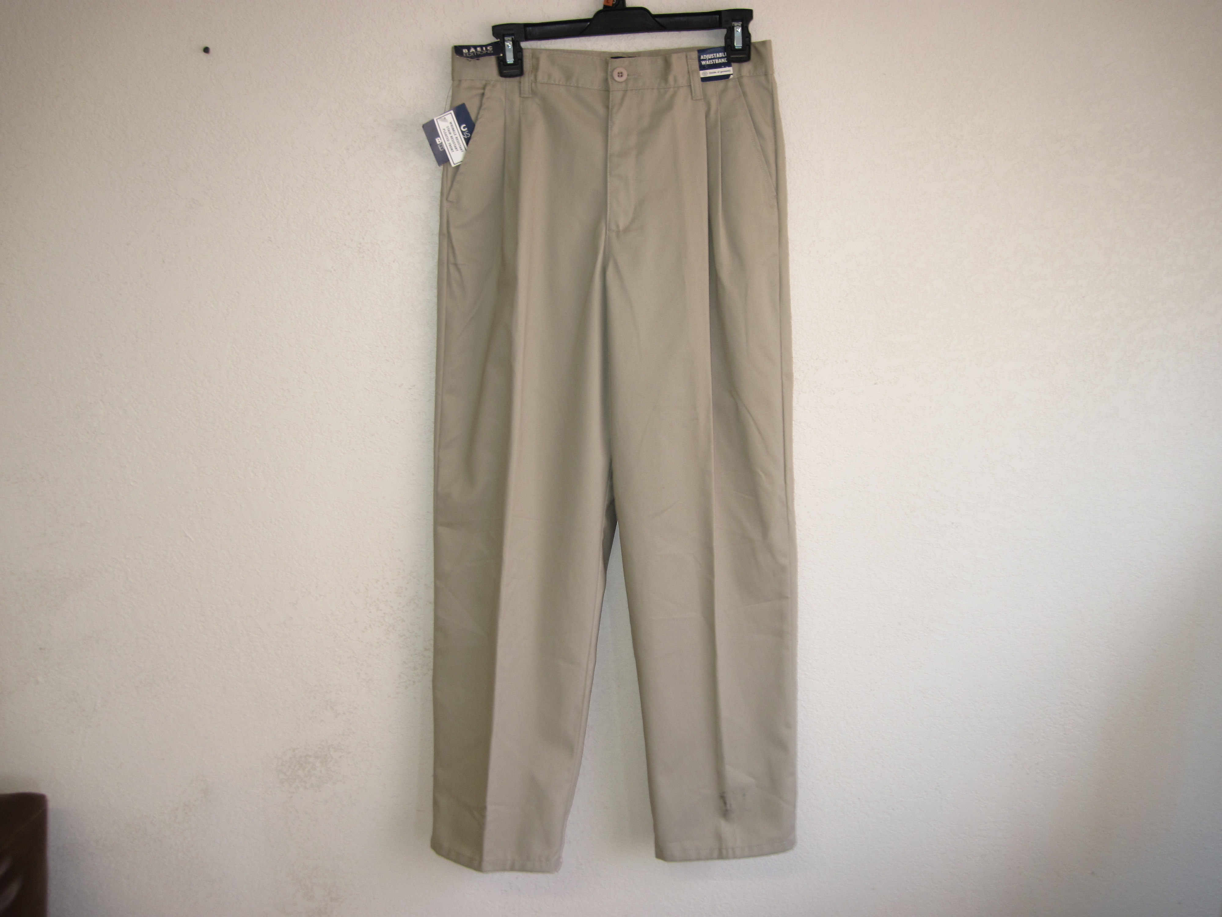 Basic Editions Sz 16R Boys Pleaded Pants (Tan)
