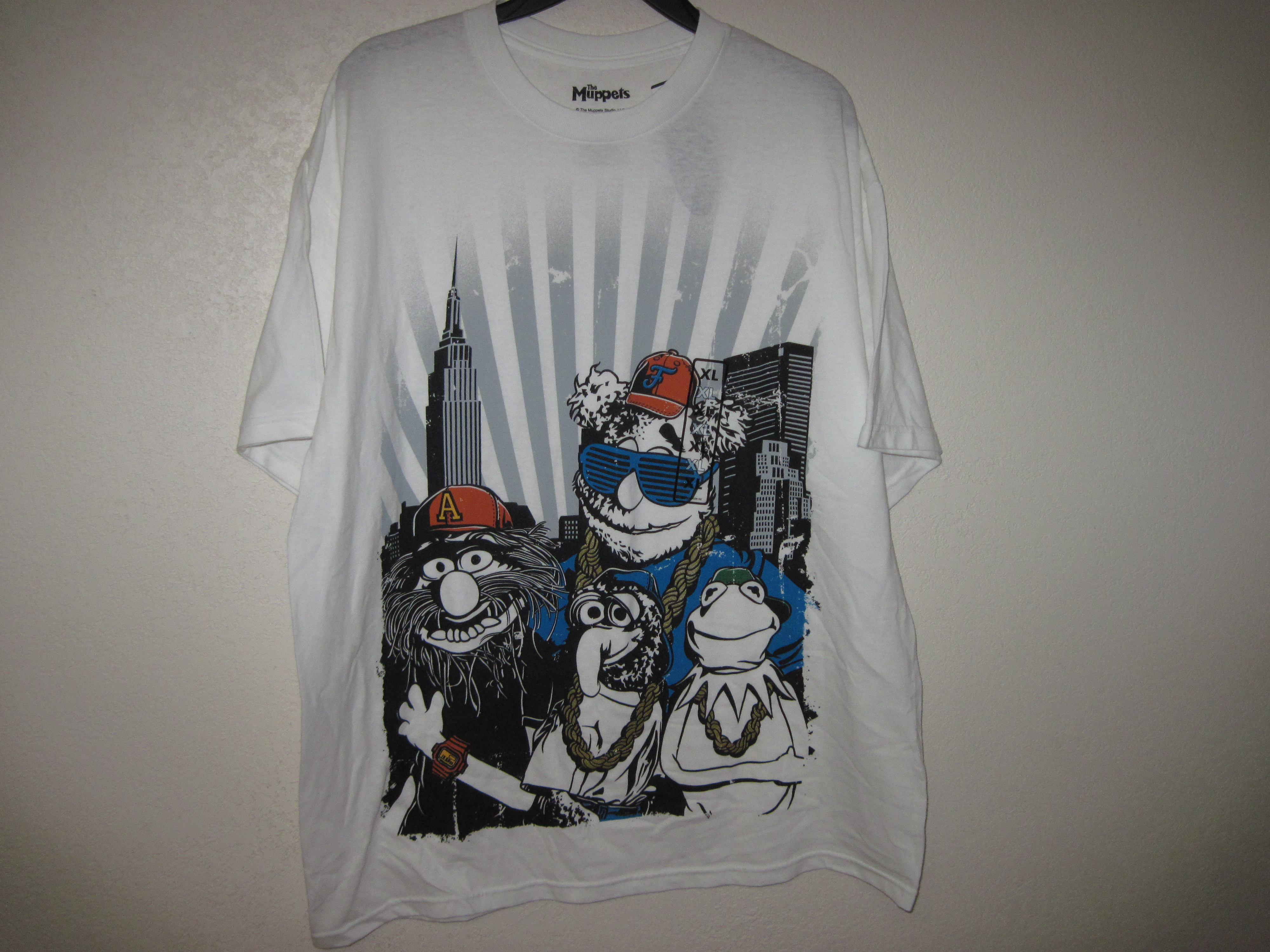 The Muppets Sz S Short Sleeve T-Shirt crew love, white